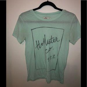 Hollister light seafoam green T-shirt